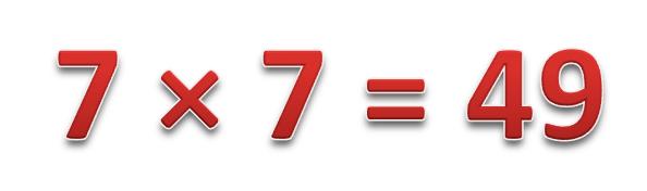 7 × 7