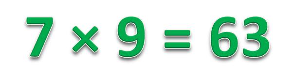 7 × 9