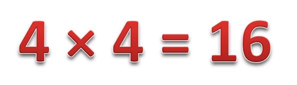 4 × 4