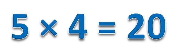 5 × 4