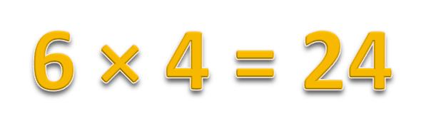 6 × 4