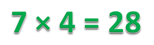 7 × 4