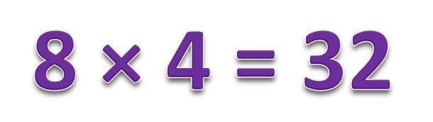 8 × 4