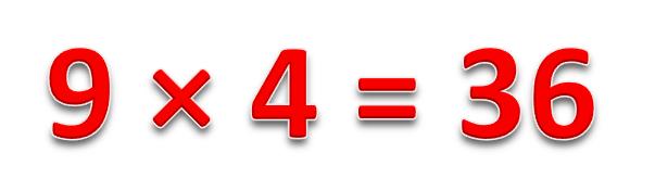 9 × 4