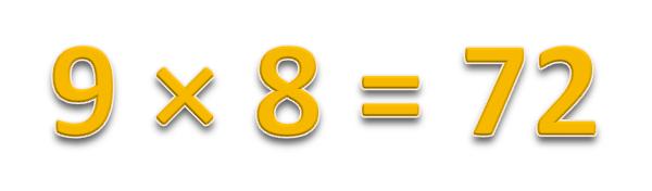 9 × 8