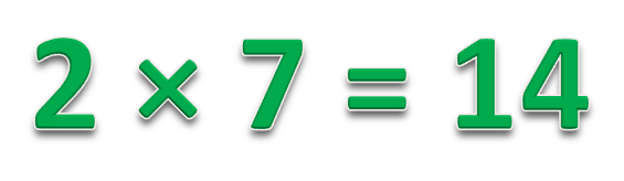 2 * 7