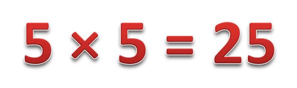 5 × 5
