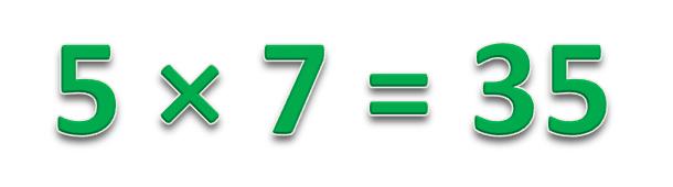 5 × 7