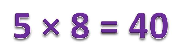 5 × 8