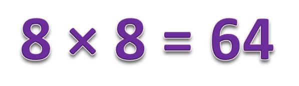 8 × 8