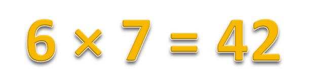 6 × 7