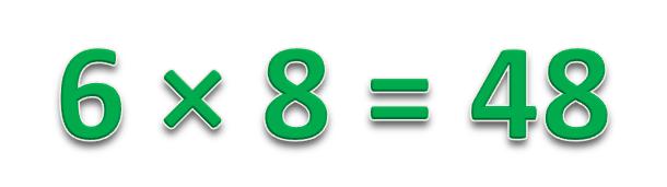 6 × 8 = 48