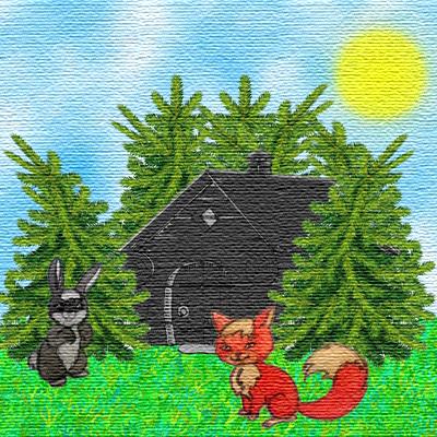 Приключение Зайчонка и Лисенка