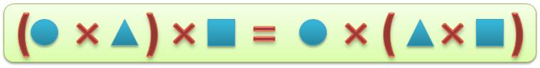 Сочетательный закон умножения