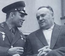 С.П. Королев и Ю.А. Гагарин