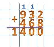 сложение в столбик многозначных чисел