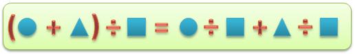 3.Деление суммы двух чисел на третье число